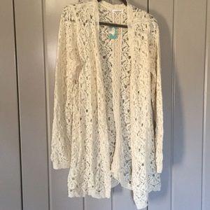 Beautiful Ivory Lace Sweater